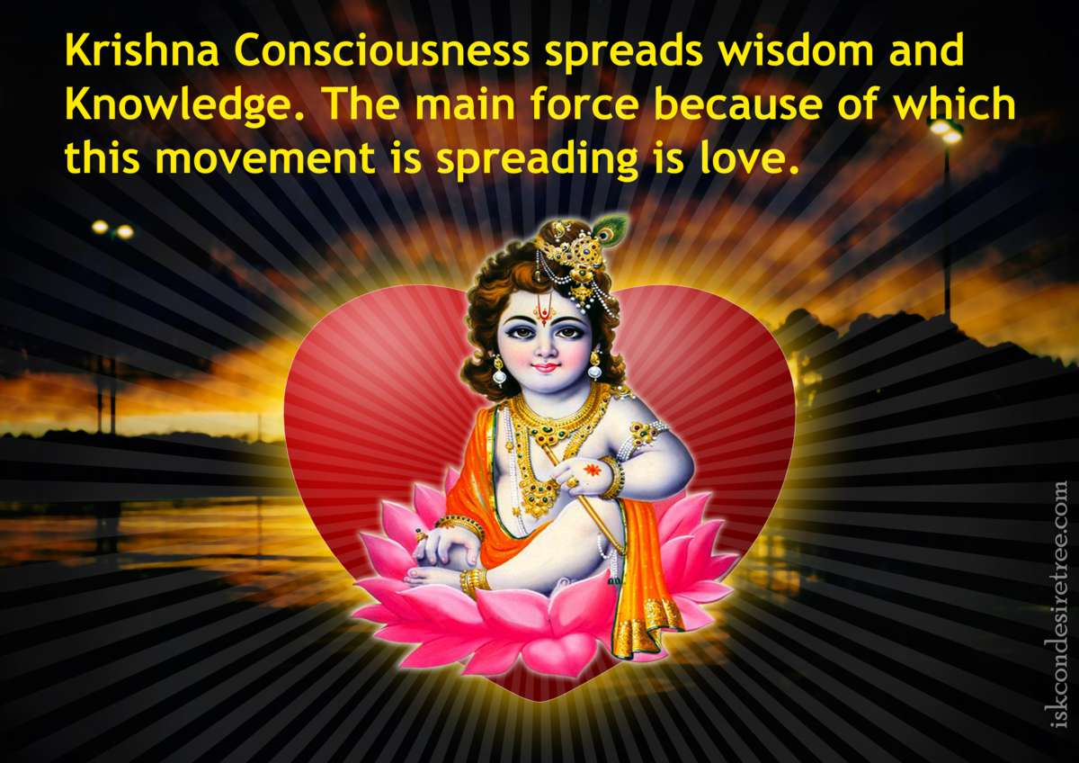 Spreading of Krishna Consciousness