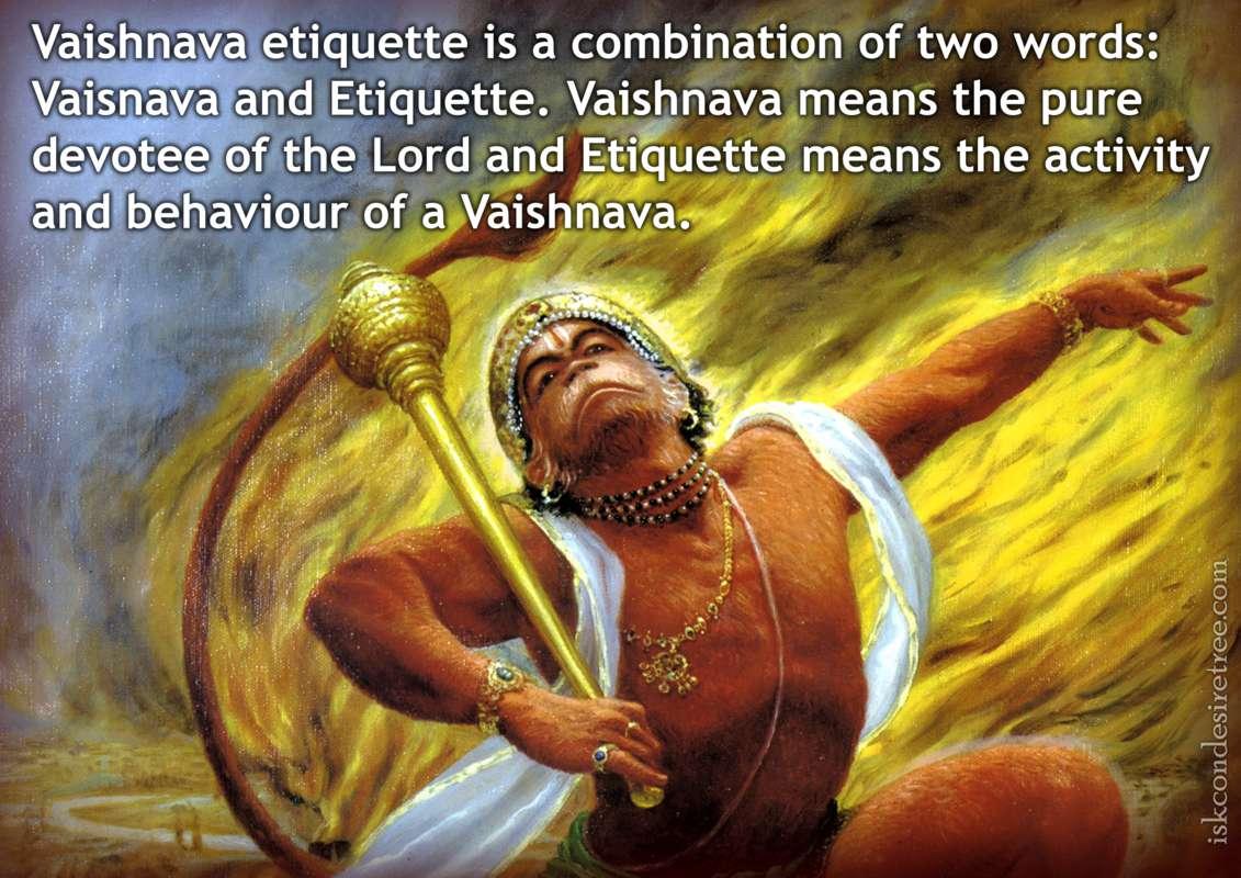Bhakti Charu Swami on Vaishnava Etiquette