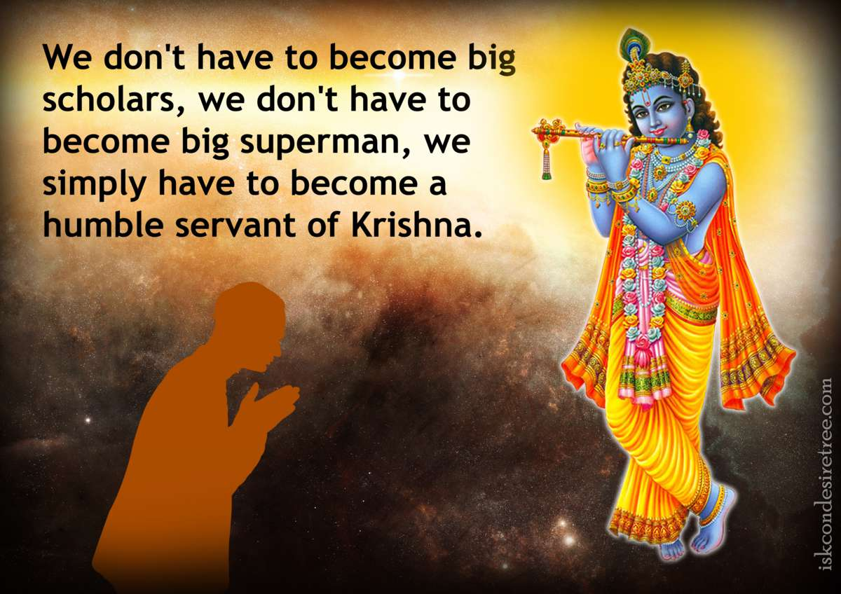 Lord Krishna Quotes Enchanting Humility  Spiritual Quotesiskcon Desire Tree