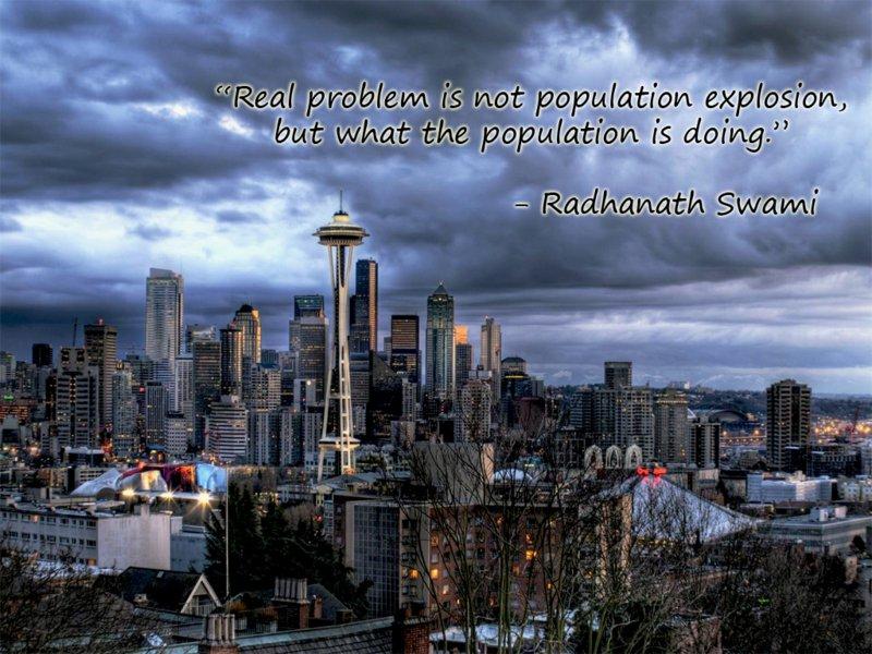 Radhanath Swami on Problem of Population