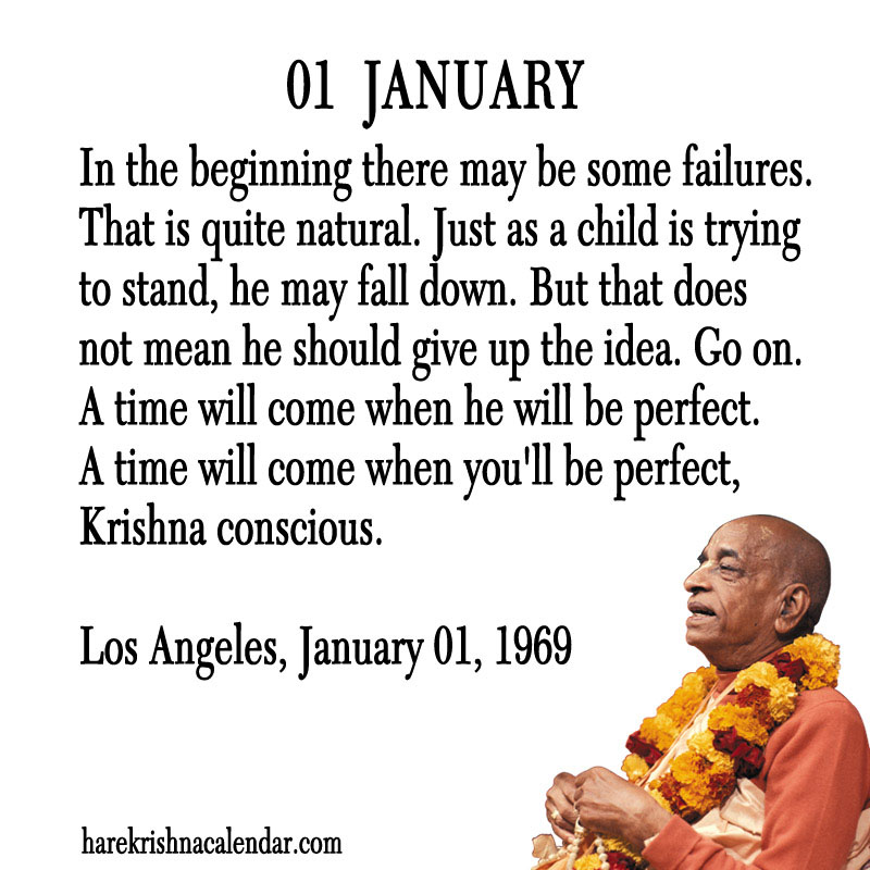 Prabhupada Quotes For The Month of January 01