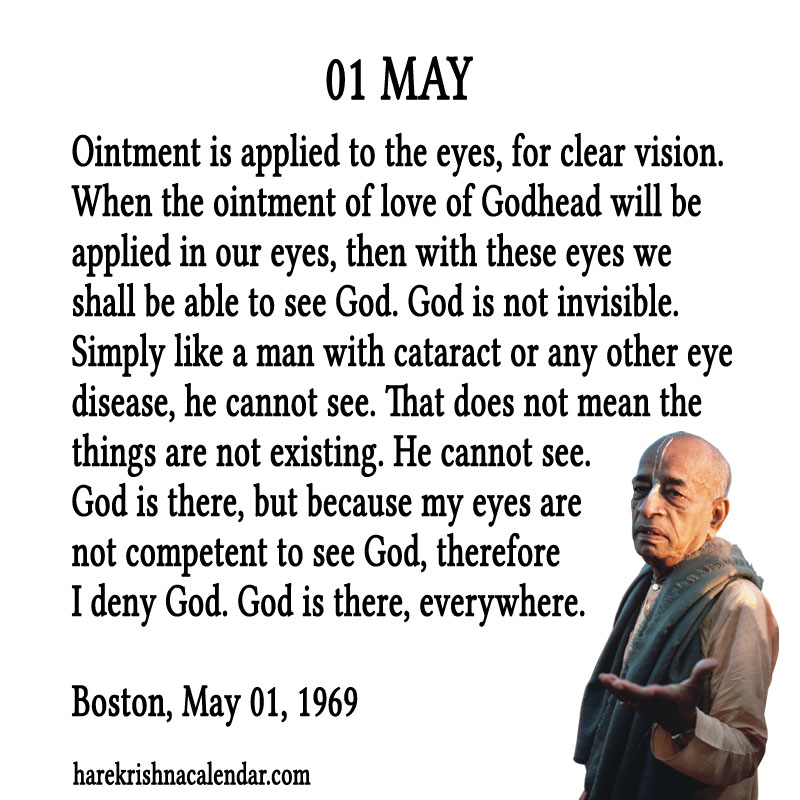 Prabhupada Quotes For The Month of May 01