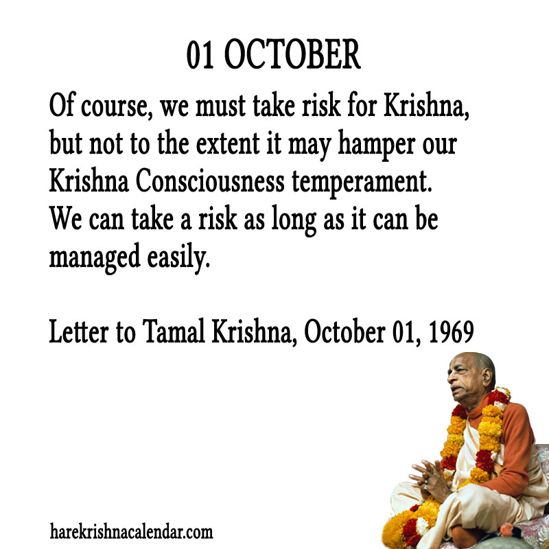 Prabhupada Quotes For The Month of October 01
