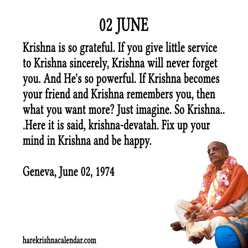 Prabhupada Quotes For The Month of June 02