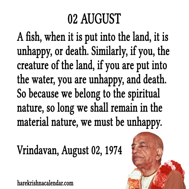 Prabhupada Quotes For The Month of August 02