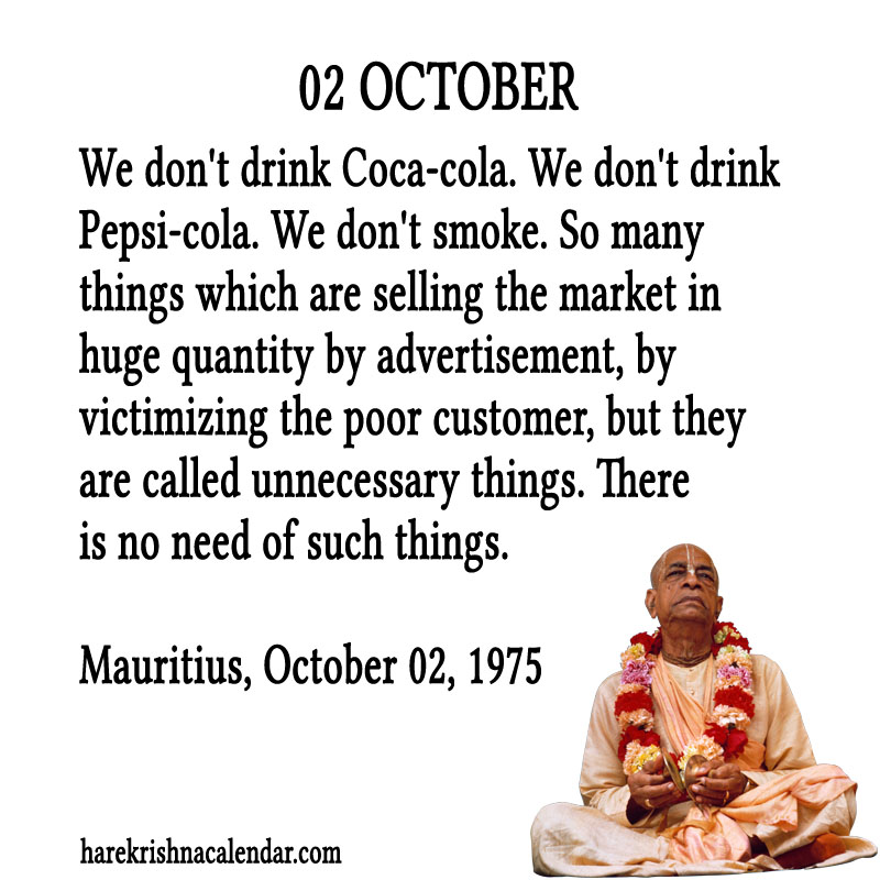 Prabhupada Quotes For The Month of October 02