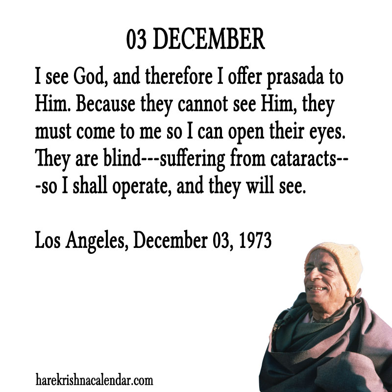 Prabhupada Quotes For The Month of December 03
