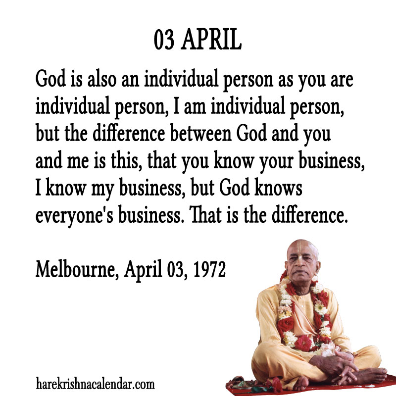 Prabhupada Quotes For The Month of April 03