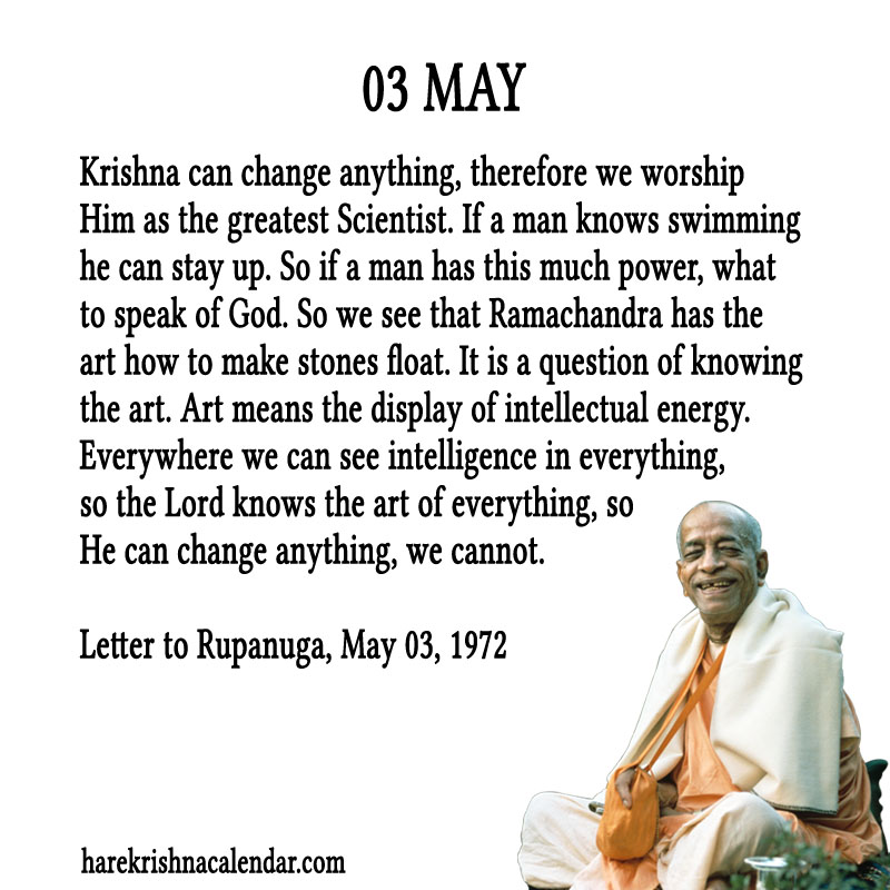 Prabhupada Quotes For The Month of May 03