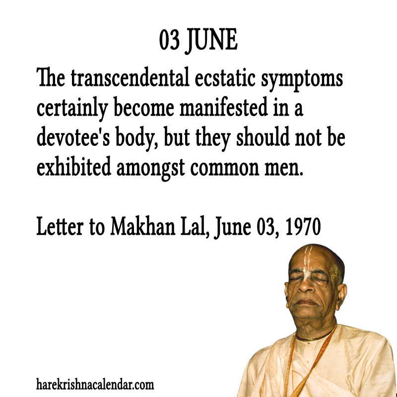 Prabhupada Quotes For The Month of June 03