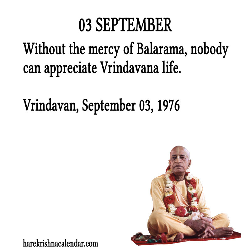 Prabhupada Quotes For The Month of August 03