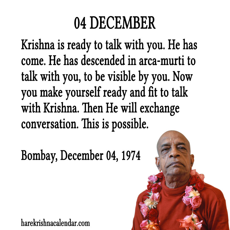 Prabhupada Quotes For The Month of December 04
