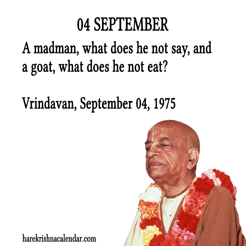 Prabhupada Quotes For The Month of August 04