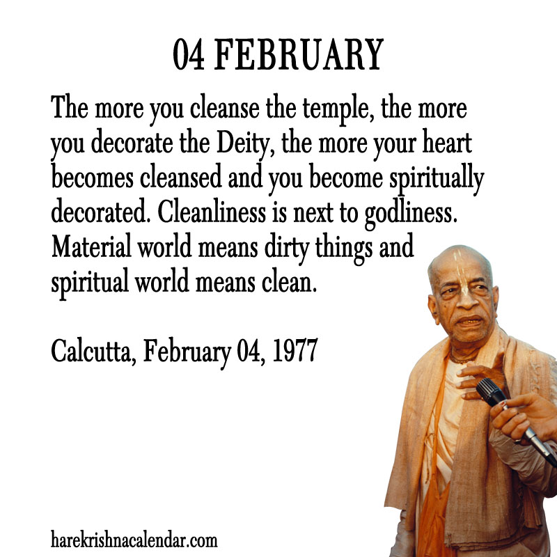 Prabhupada Quotes For The Month of Februry 04