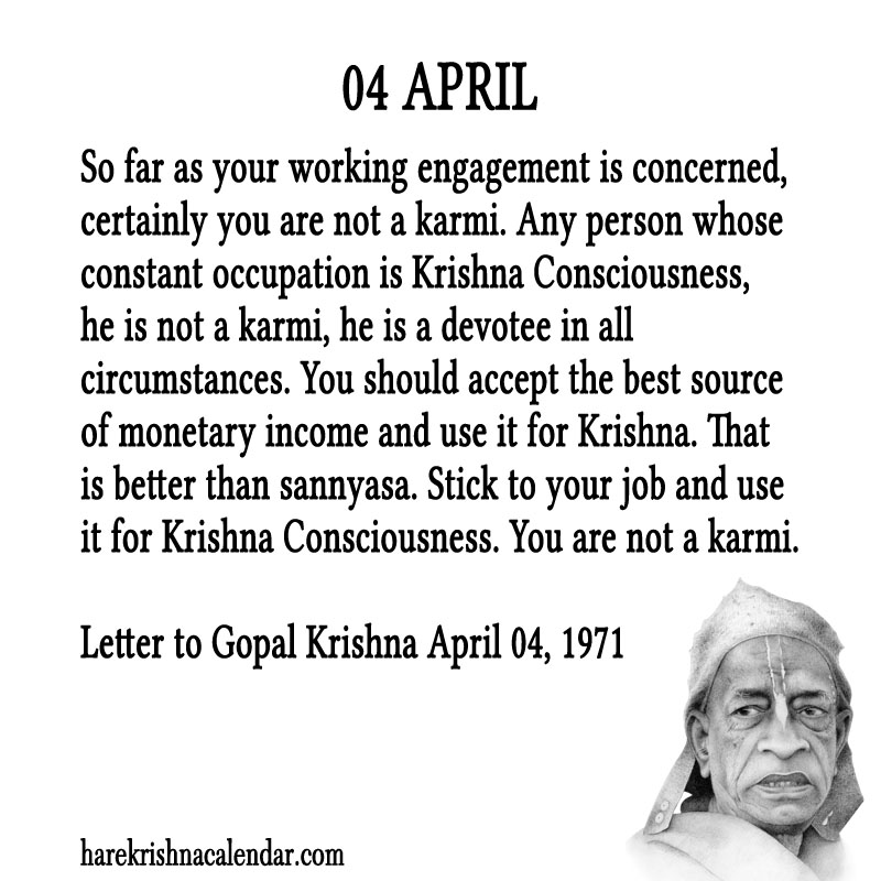 Prabhupada Quotes For The Month of April 04