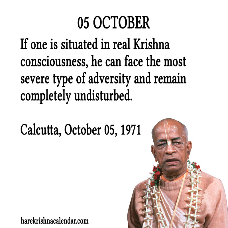 Prabhupada Quotes For The Month of October 05