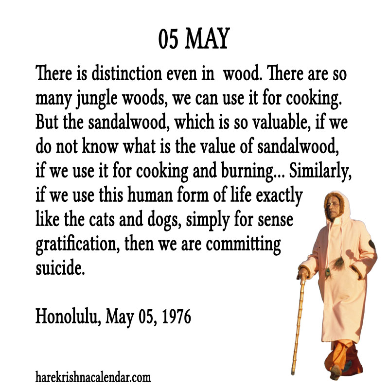Prabhupada Quotes For The Month of May 05