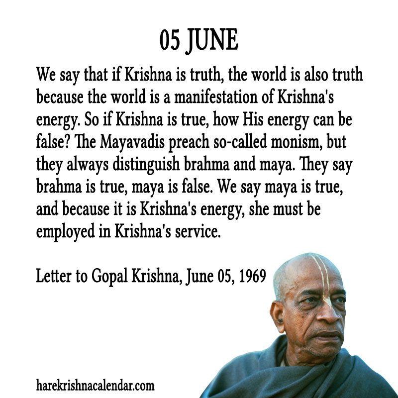 Prabhupada Quotes For The Month of June 05