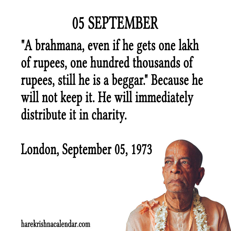Prabhupada Quotes For The Month of September 05