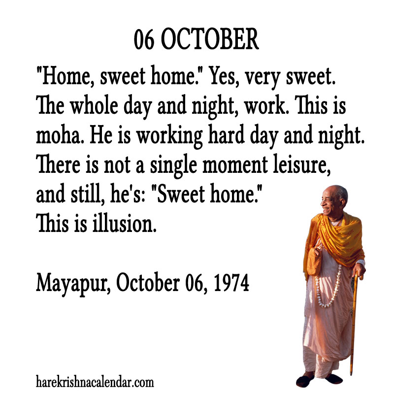 Prabhupada Quotes For The Month of October 06