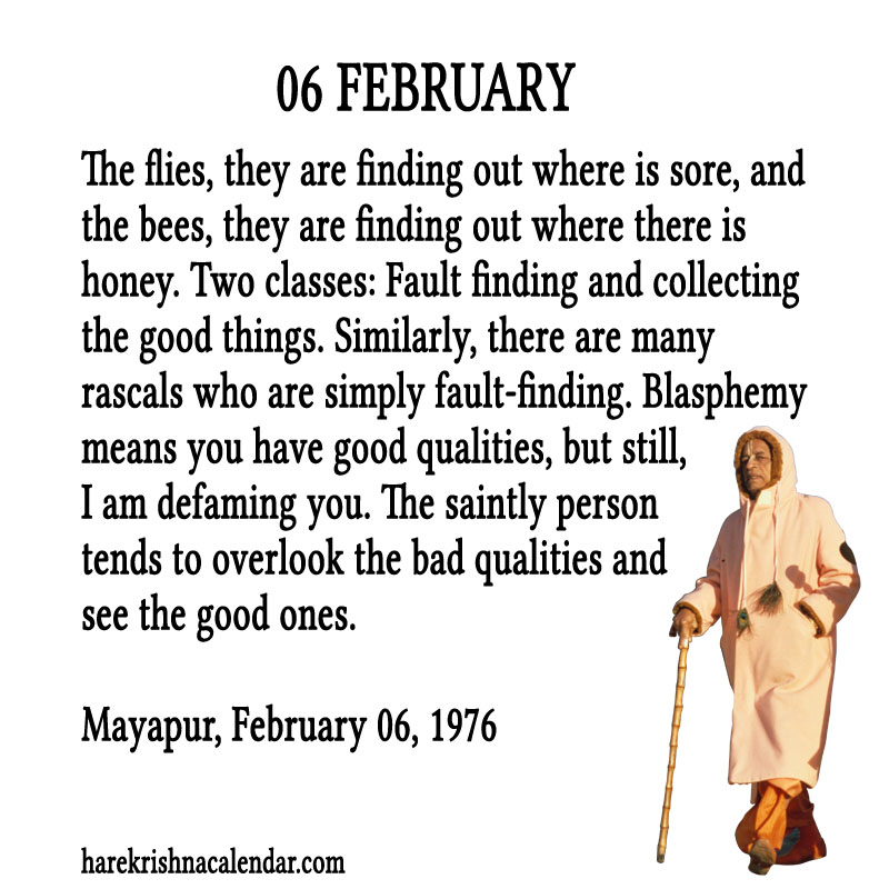 Prabhupada Quotes For The Month of Februry 06