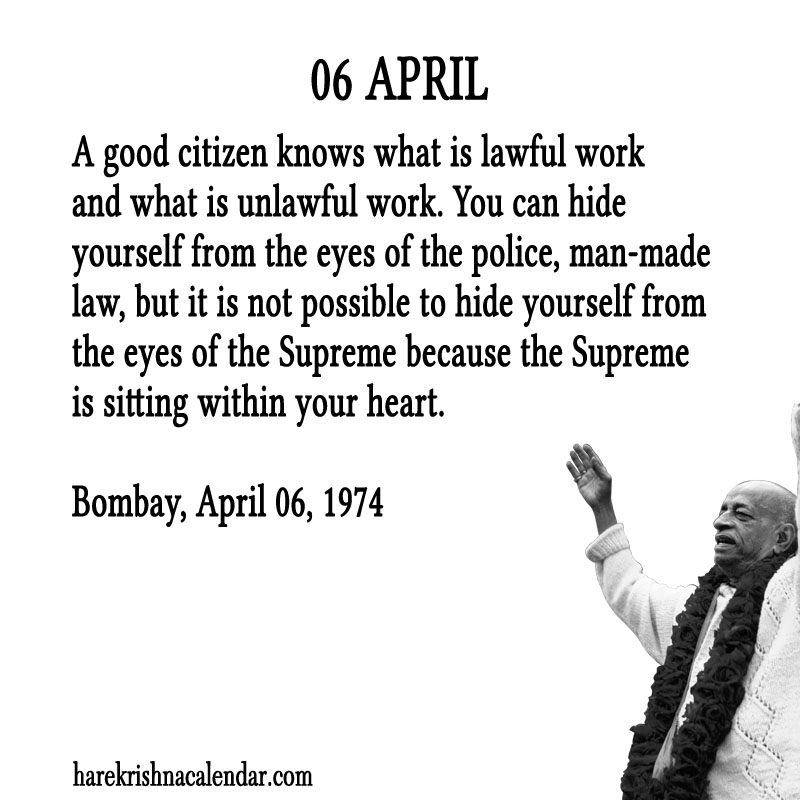 Prabhupada Quotes For The Month of April 06