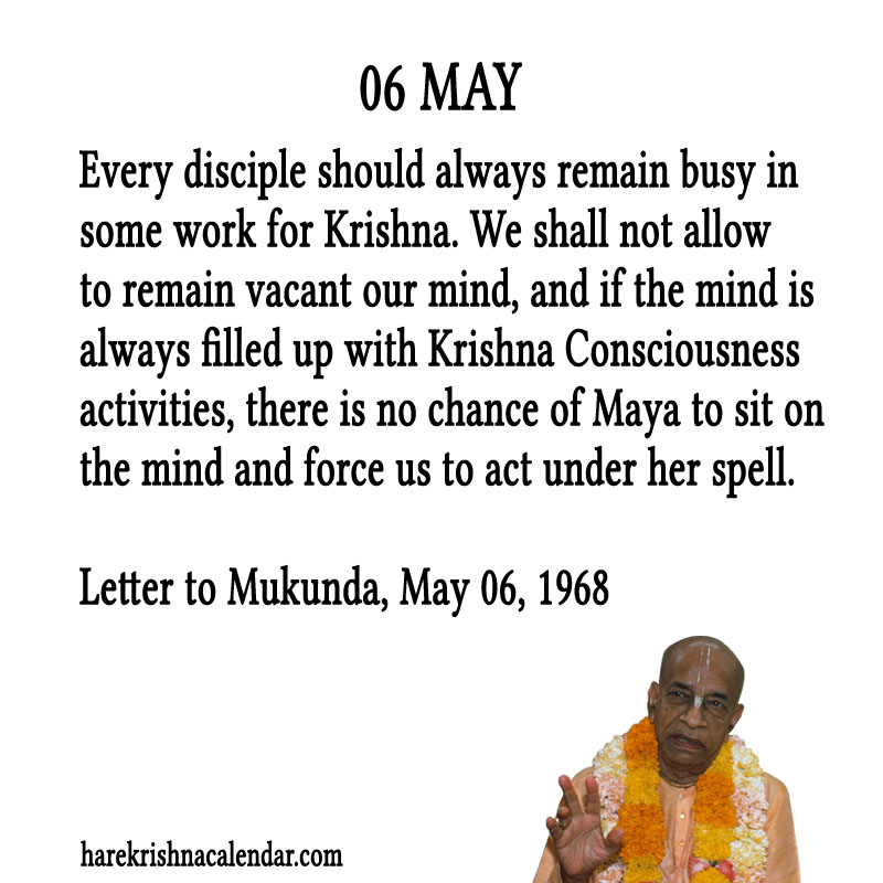 Prabhupada Quotes For The Month of May 06