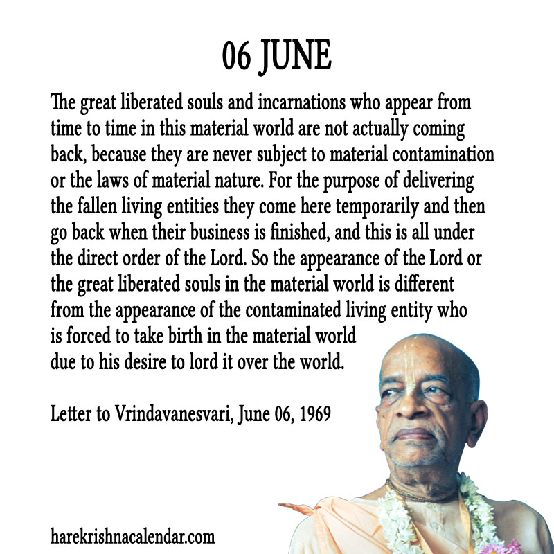 Prabhupada Quotes For The Month of June 06