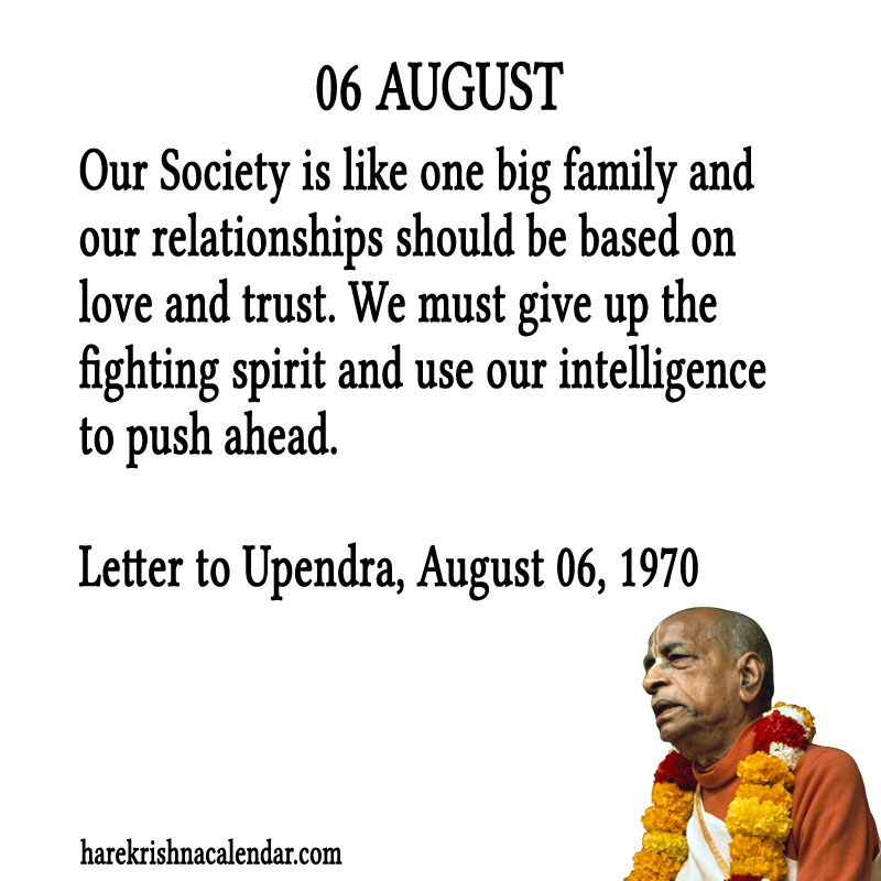 Prabhupada Quotes For The Month of August 06