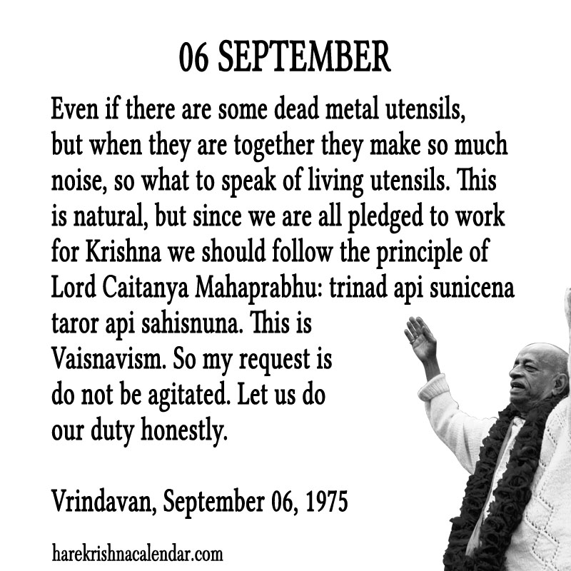Prabhupada Quotes For The Month of September 06