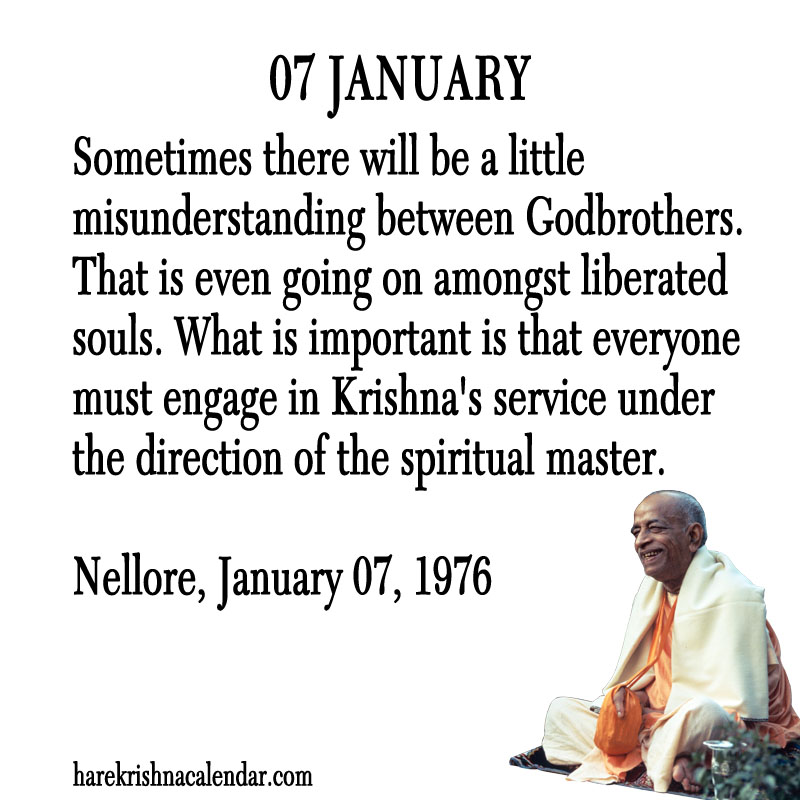 Prabhupada Quotes For The Month of January 07