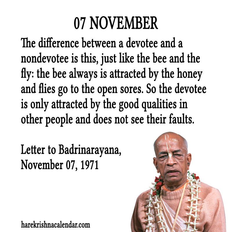 Prabhupada Quotes For The Month of November 07