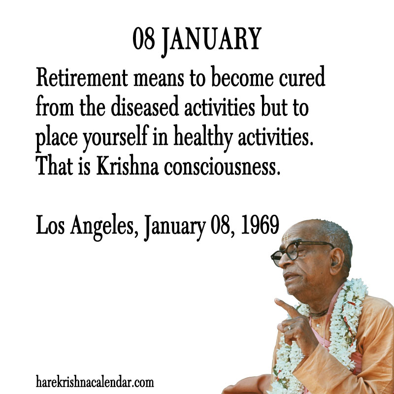 Prabhupada Quotes For The Month of January 08