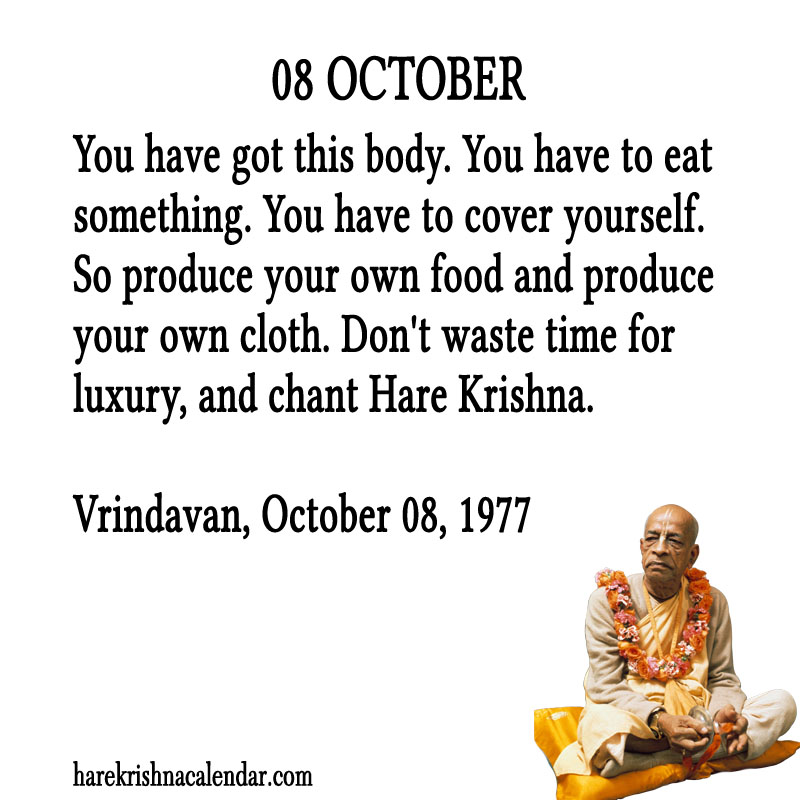 Prabhupada Quotes For The Month of October 08