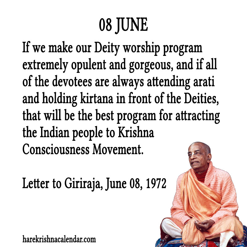 Prabhupada Quotes For The Month of June 08