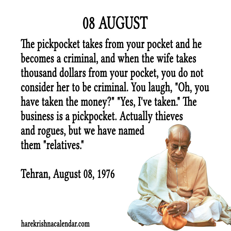 Prabhupada Quotes For The Month of August 08
