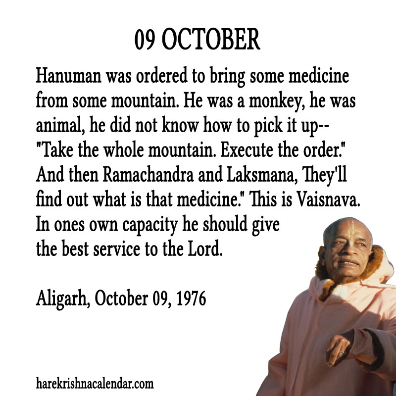 Prabhupada Quotes For The Month of October 09