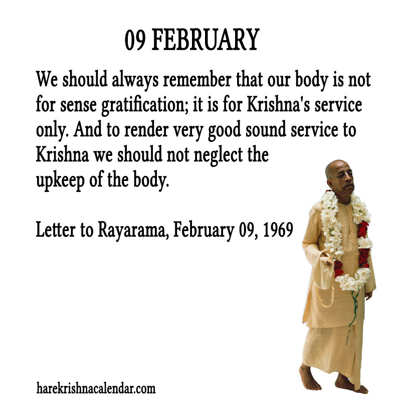Prabhupada Quotes For The Month of Februry 09