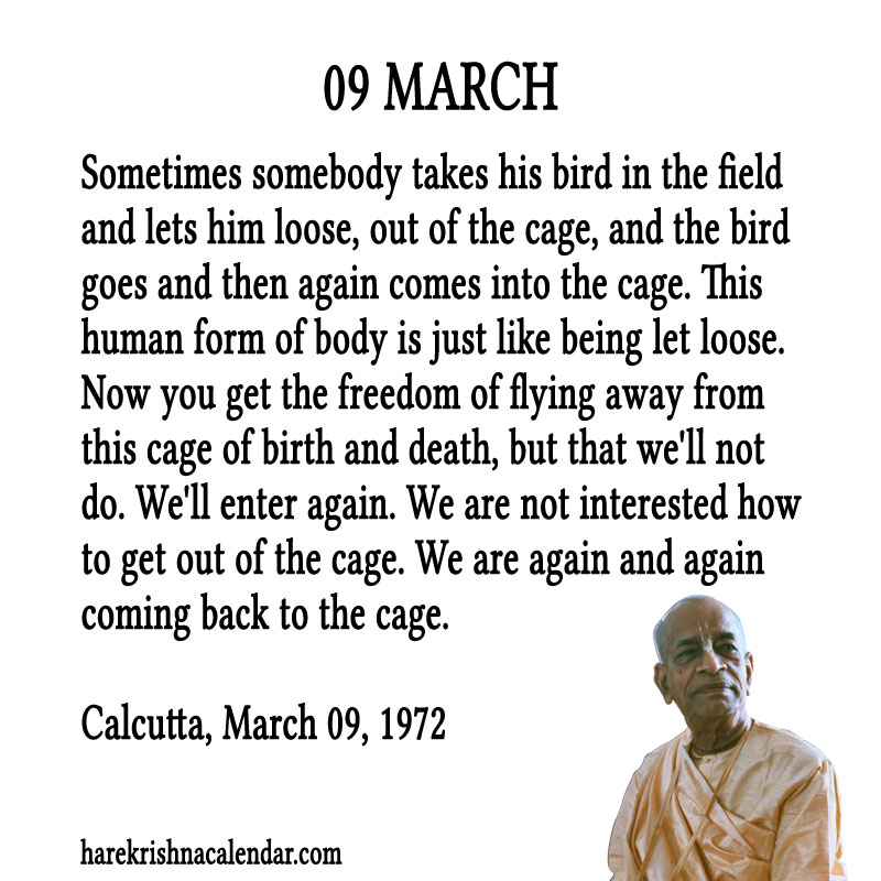 Prabhupada Quotes For The Month of March 09
