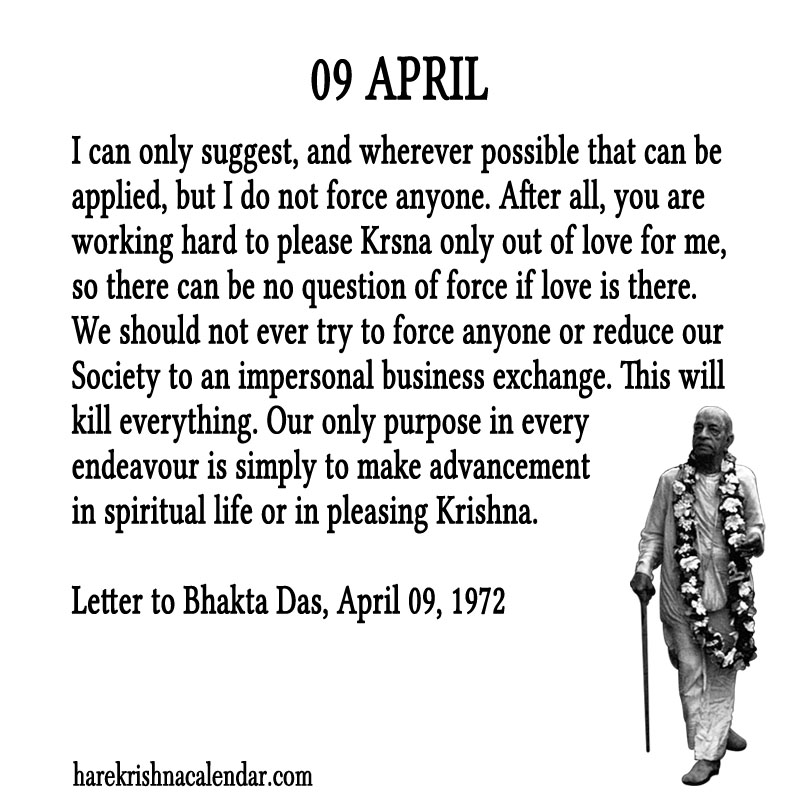 Prabhupada Quotes For The Month of April 09