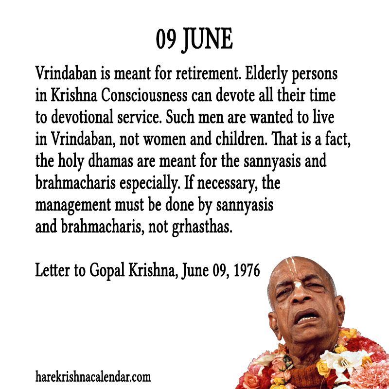 Prabhupada Quotes For The Month of June 09