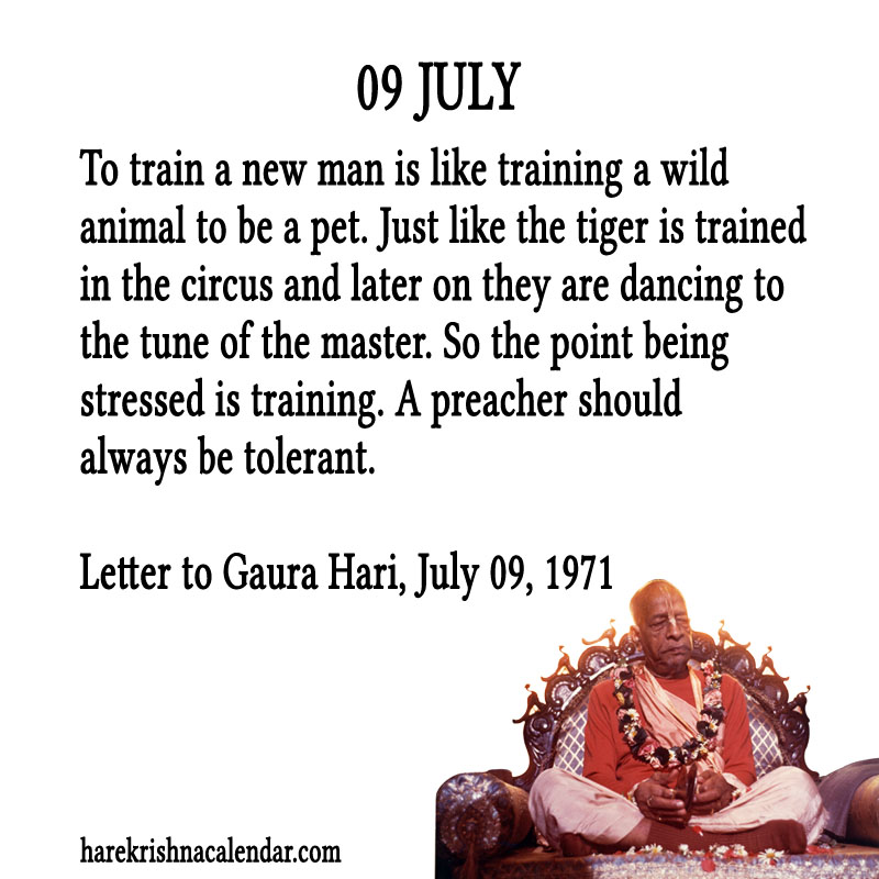 Prabhupada Quotes For The Month of July 09