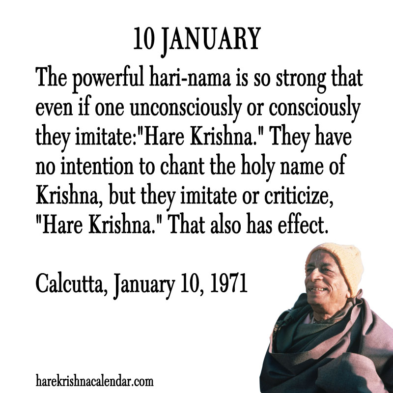 Prabhupada Quotes For The Month of January 10