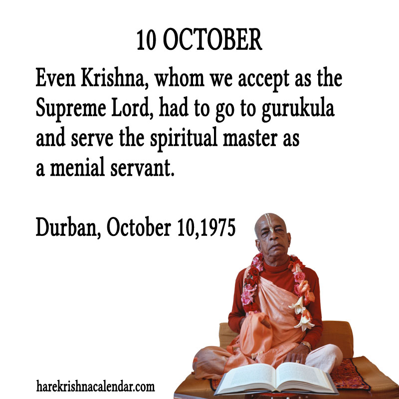 Prabhupada Quotes For The Month of October 10