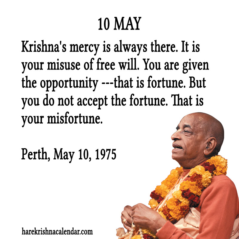 Prabhupada Quotes For The Month of May 10
