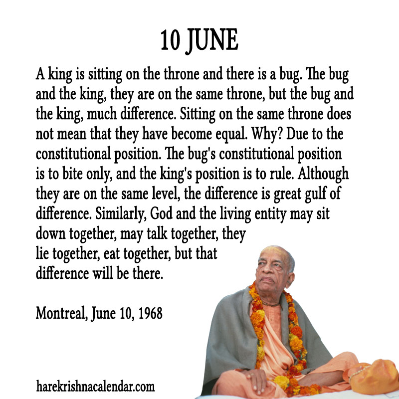 Prabhupada Quotes For The Month of June 10