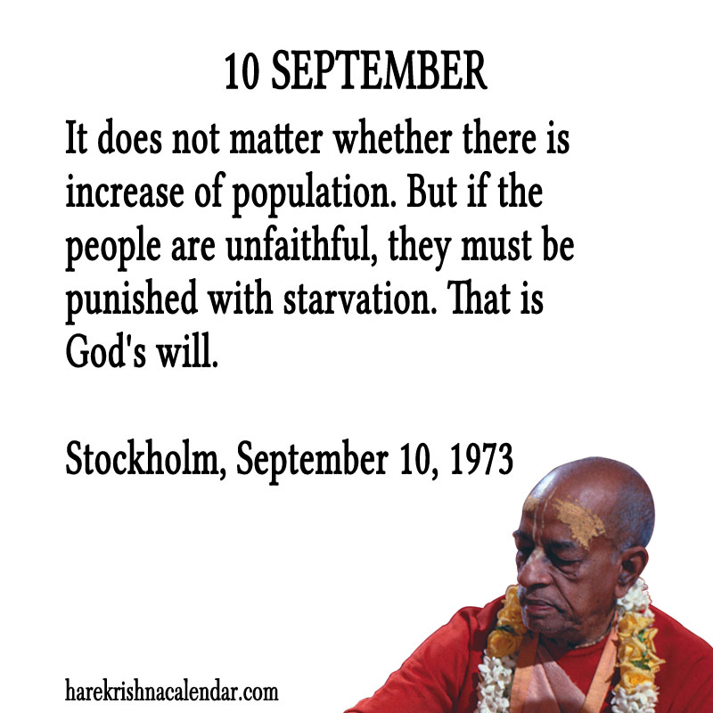 Prabhupada Quotes For The Month of September 10
