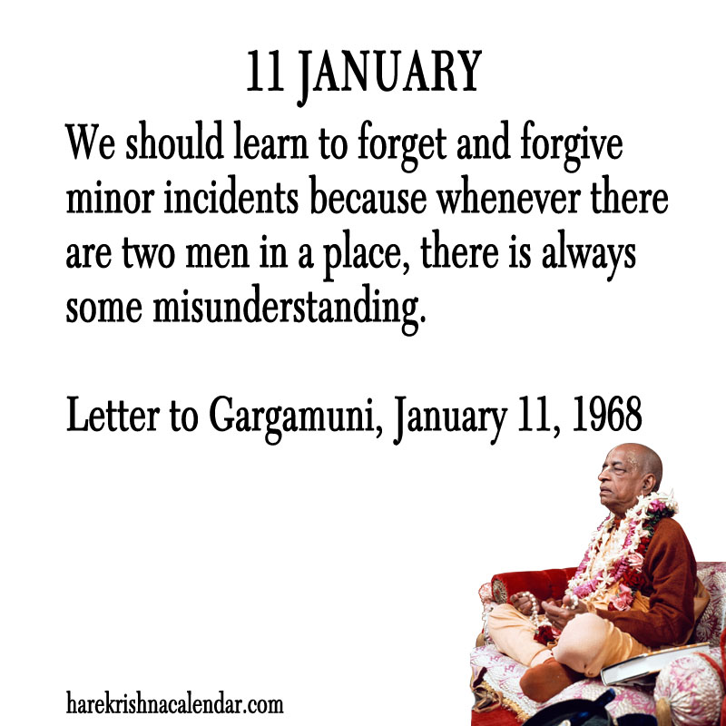Prabhupada Quotes For The Month of January 11