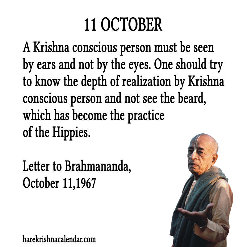 Prabhupada Quotes For The Month of October 11
