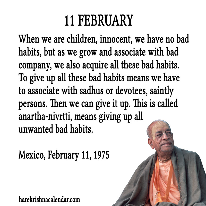 Prabhupada Quotes For The Month of Februry 11